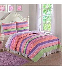 Laura Hart Annas Pastel Stripe Quilt Set