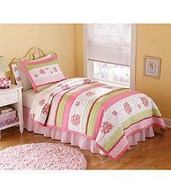 My World® Crazy Pink Ladybug Quilt Set