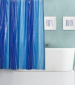 Dainty Home Blue Lagoon Shower Curtain