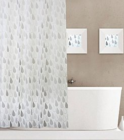 Dainty Home Raindrops Shower Curtain