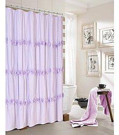 Dainty Home Rosette Shower Curtain