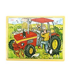 Bigjigs Toys Tractor 24-pc. Tray Puzzle