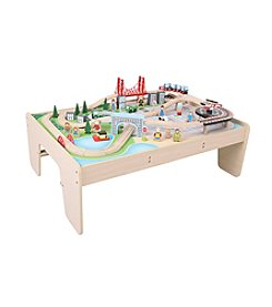 Bigjigs Toys City Train Set and Table