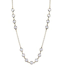 1928® Jewelry Goldtone Clear Crystal Strand Necklace 42