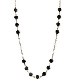 1928® Jewelry Goldtone Black Strand Necklace 42