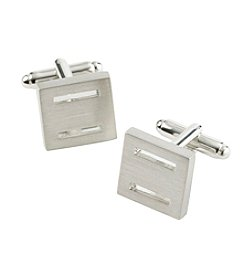 Kenneth Roberts® Silver Square Cufflinks