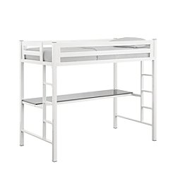W.Designs Bentley Twin Metal Loft Bed with Workstation