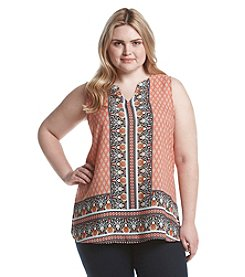 Eyeshadow® Plus Size Printed Tunic Top