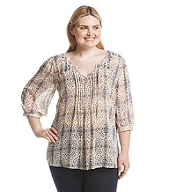 Eyeshadow® Plus Size Printed Woven Top