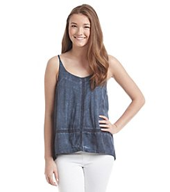Hippie Laundry Lace Trim Bubble Tank Top