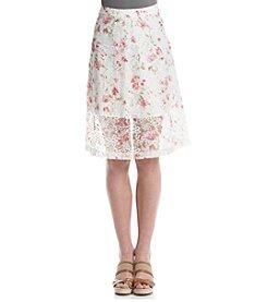 Kensie® Floral Organza Skirt