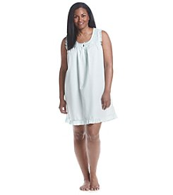 Miss Elaine® Plus Size Woven Nightgown