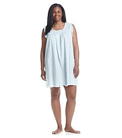 Miss Elaine® Plus Size Woven Cotton Nightgown