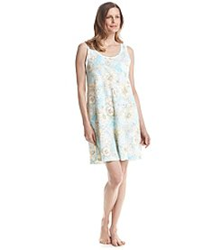 Miss Elaine® Printed Woven Nightgown