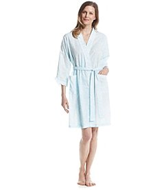 Miss Elaine® Printed Woven Robe