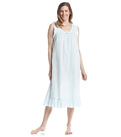 Miss Elaine® Long Sleeveless Woven Nightgown