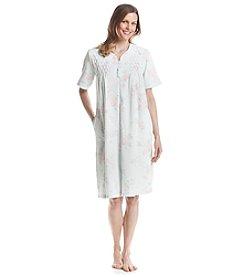 Miss Elaine® Printed Waffle Knit Robe