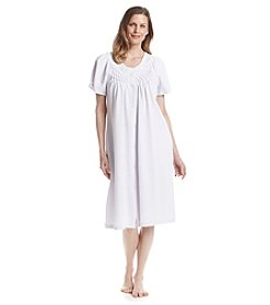 Miss Elaine® Waffle Knit Button Up Robe