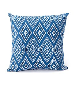 LivingQuarters Lake Collection Ikat Printed Cushion