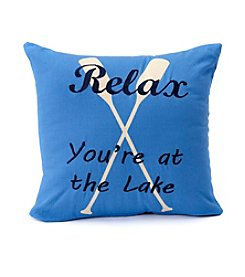LivingQuarters Lake Collection Relax Printed Cushion