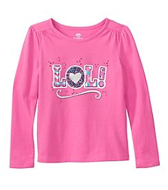 Mix & Match Girls' 4-6X Long Sleeve Lol! Printed Tee