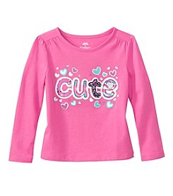 Mixv& Match Girls' 2T-4T Long Sleeve Cute Printed Tee