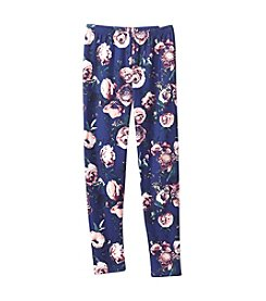 Miss Attitude Girls' 7-16 Rose Printed Leggings