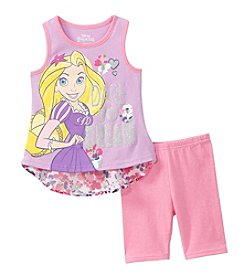 Disney Princess® Girls' 2T-6X Rapunzel Dare To Dream Printed Tank And Bike Shorts Set