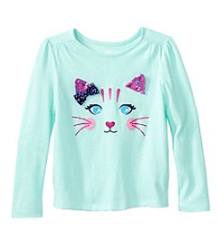 Mix & Match Girls' 2T-6X Long Sleeve Cat Printed Tee
