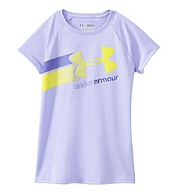 Under Armour® Girls' 7-16 Short Sleeve Fast Lane Logo Tee
