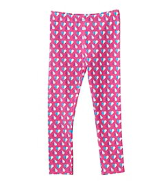 Mix & Match Girls' 2T-6X Heart Printed Leggings