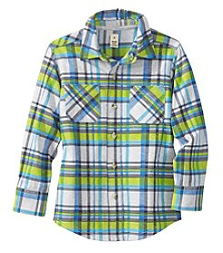Mix & Match Boys' 2T-7 Long Sleeve Plaid Button Down Shirt