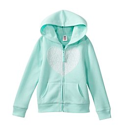 Mix & Match Girls' 2T-6X Heart Printed Zip Up Hoodie