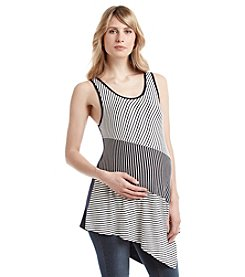 Three Seasons Maternity™ Mixed Stripe Angle Tank