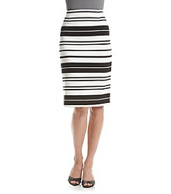 Calvin Klein Striped Straight Skirt