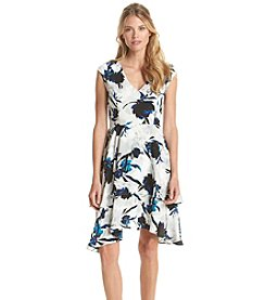 Ivanka Trump® V-Neck Floral Dress