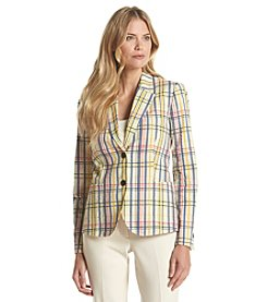 Anne Klein® Plaid Madras Jacket