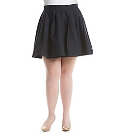 MICHAEL Michael Kors® Plus Size Solid Pleated Skirt