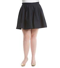 MICHAEL Michael Kors® Plus Size Solid Pleated Skirt