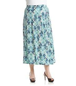 Kasper® Plus Size Reptile Print Maxi Skirt