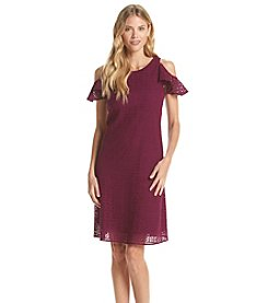 Taylor Dresses Cold Shoulder Crochet Dress