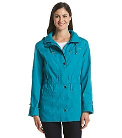 Mackintosh Petites' Front Zip With Elastic Waist Anorak Jacket