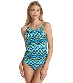 Jantzen® High Neck Chevron Mio One-Piece Suit