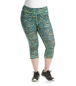 Exertek® Plus Size Printed Cropped Leggings