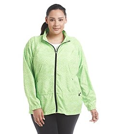 Exertek® Plus Size Printed Peplum Jacket