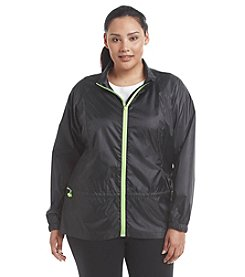 Exertek® Plus Size Solid Peplum Jacket