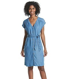 Sangria™ Button Front Denim Dress