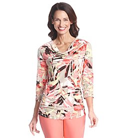 Laura Ashley® Petites' Abstract Print Top