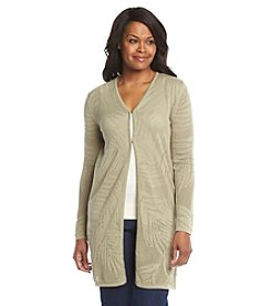 Laura Ashley® Petites' Palm Tunic Cardigan