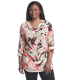 Laura Ashley® Plus Size Abstract Print Top